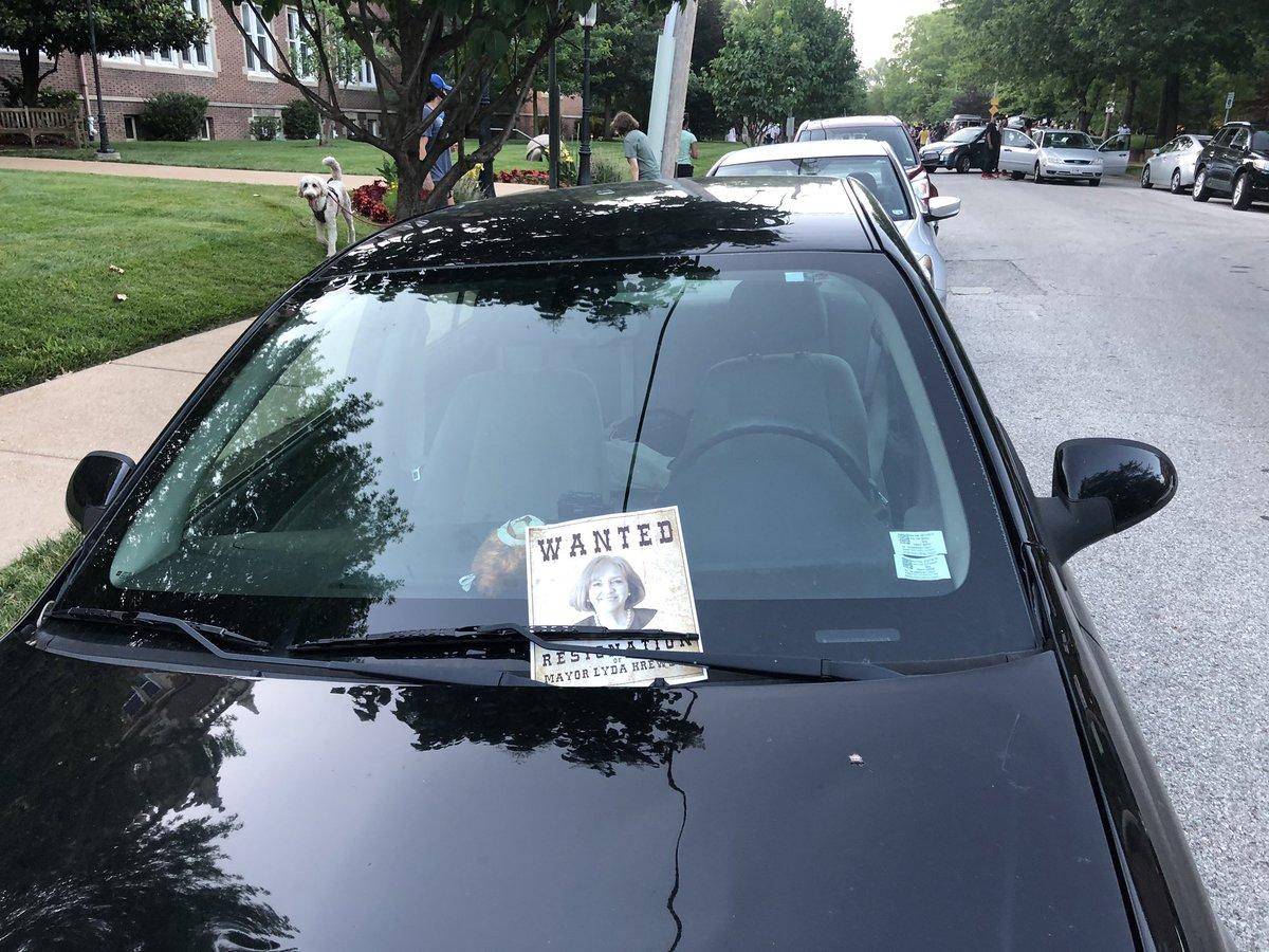 Flyers on cars in Mayor Lyda Krewson neighborhood.