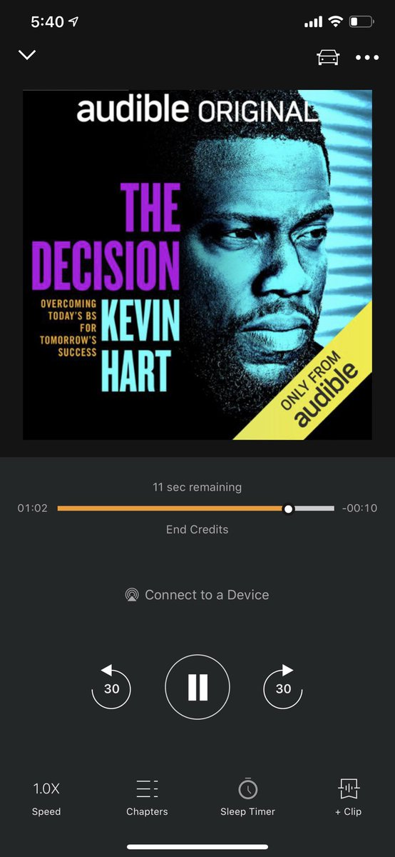 It's been a while since I finished a whole book in one day, but this one was really good.  Entertaining, educational, and great storytelling.  I'd highly recommend checking it out. 👍🏽  cc: @KevinHart4real https://t.co/cFn8i98uFv