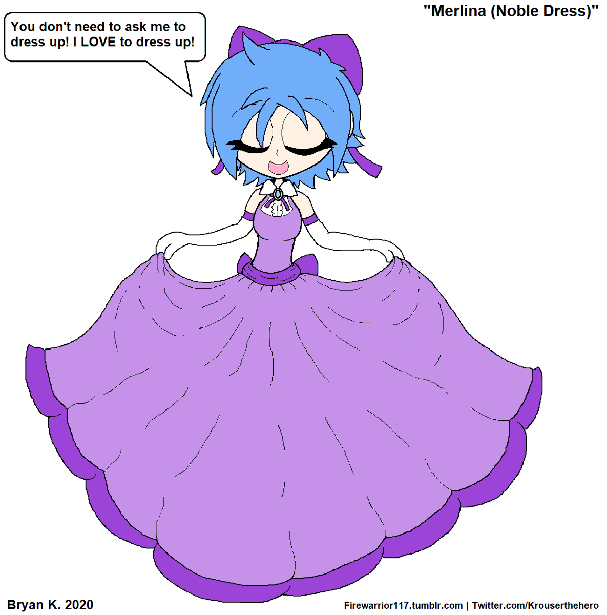 Merlina likes to dress up!  She has a full wardrobe of gowns and dresses fit for a princess! As well as casual dresses for when the weather warms up!  This dress, however, is a design I came up with myself that pops up on a lot of my characters!  #myart #mycharacters #Merlinapic.twitter.com/tmqGjntyuF