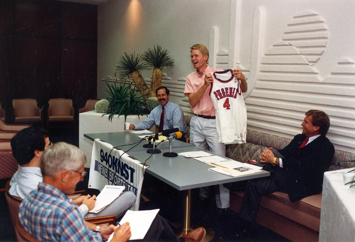 On this day in 1988...  A young Wildcat named @SteveKerr was selected by the @Suns in the NBA Draft 🐻⬇️ https://t.co/E6wIqDYQNy