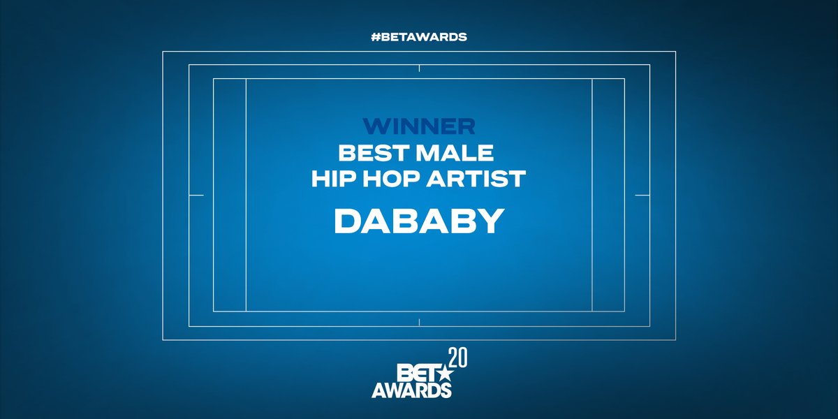 .@DaBabyDaBaby takes home the award for Best Male Hip Hop Artist. #BETAwards