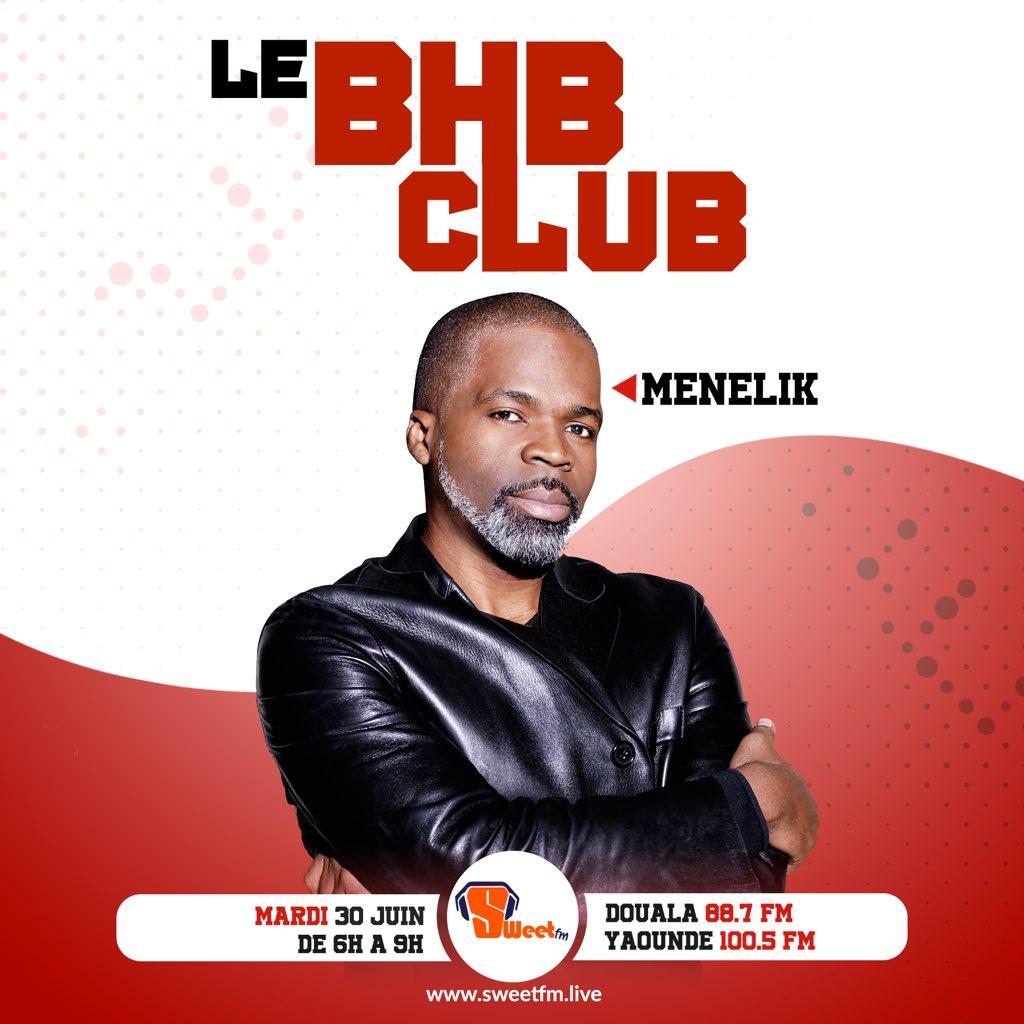 Demain matin, le légendaire Menelik sera à la maison, dans @lebhbclub.   Vous avez des questions à lui poser ? 👉🏿 #bhbclub   Télécharge l'app @Sweetfmlive sur ton mobile 👉🏿 https://t.co/FUePHFTGXH https://t.co/4RADwPj4WN