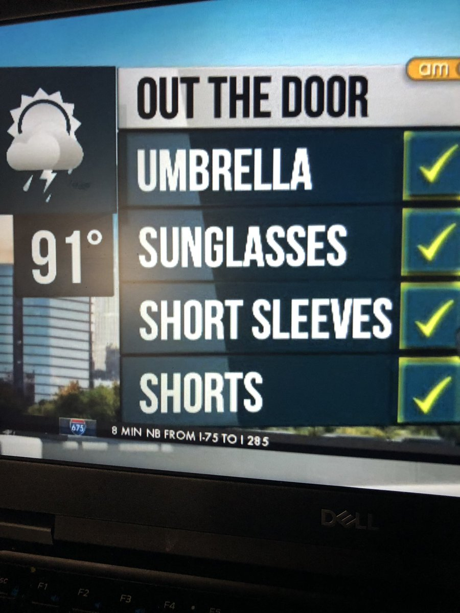 Here's your wsbtv outdoor check list it's going to be hot!!! #wsbtv