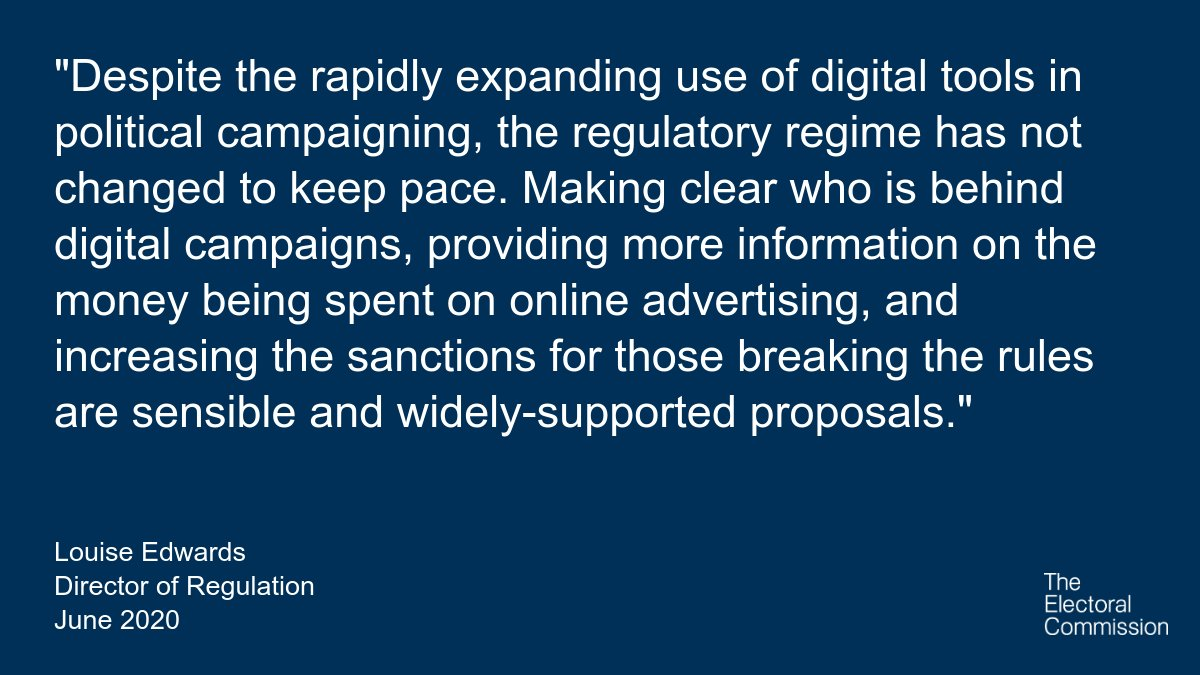 Commenting on the @HLDemoDigital report, our Director of Regulation highlights the importance of digital transparency for voters and ensuring electoral law is fit for the 21st century