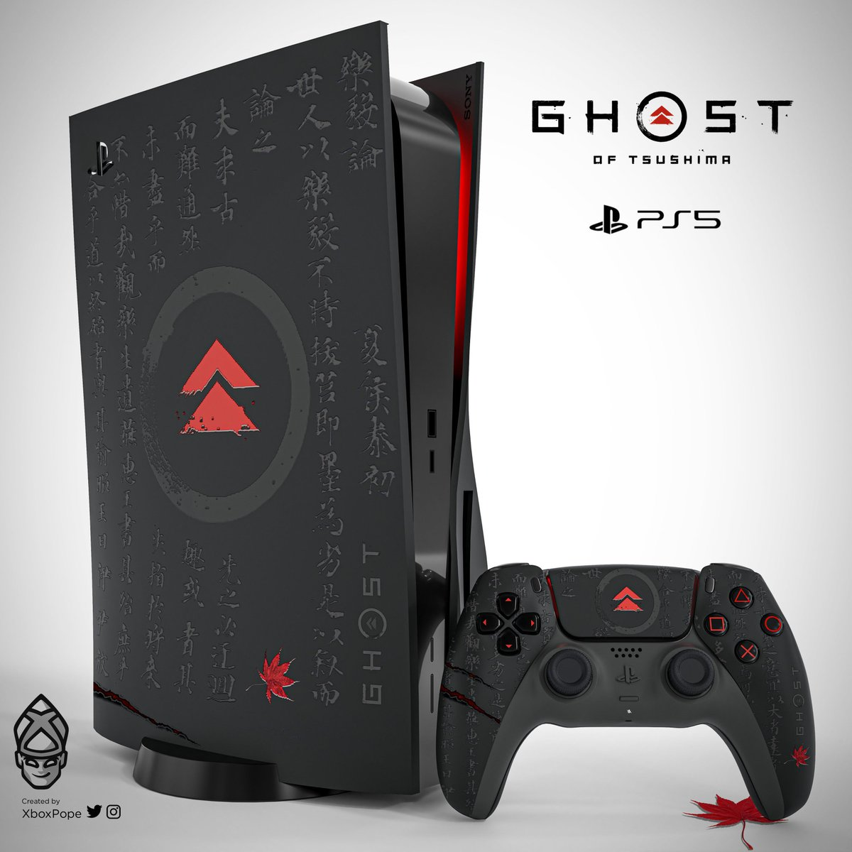 Akshay On Twitter Out Of All The Fanmade Playstation 5 Designs This Is My Fav One Credits Xboxpope Black Console Red Led Color Ghostoftsushima Ltd Ed Https T Co A3gzbfyjgy