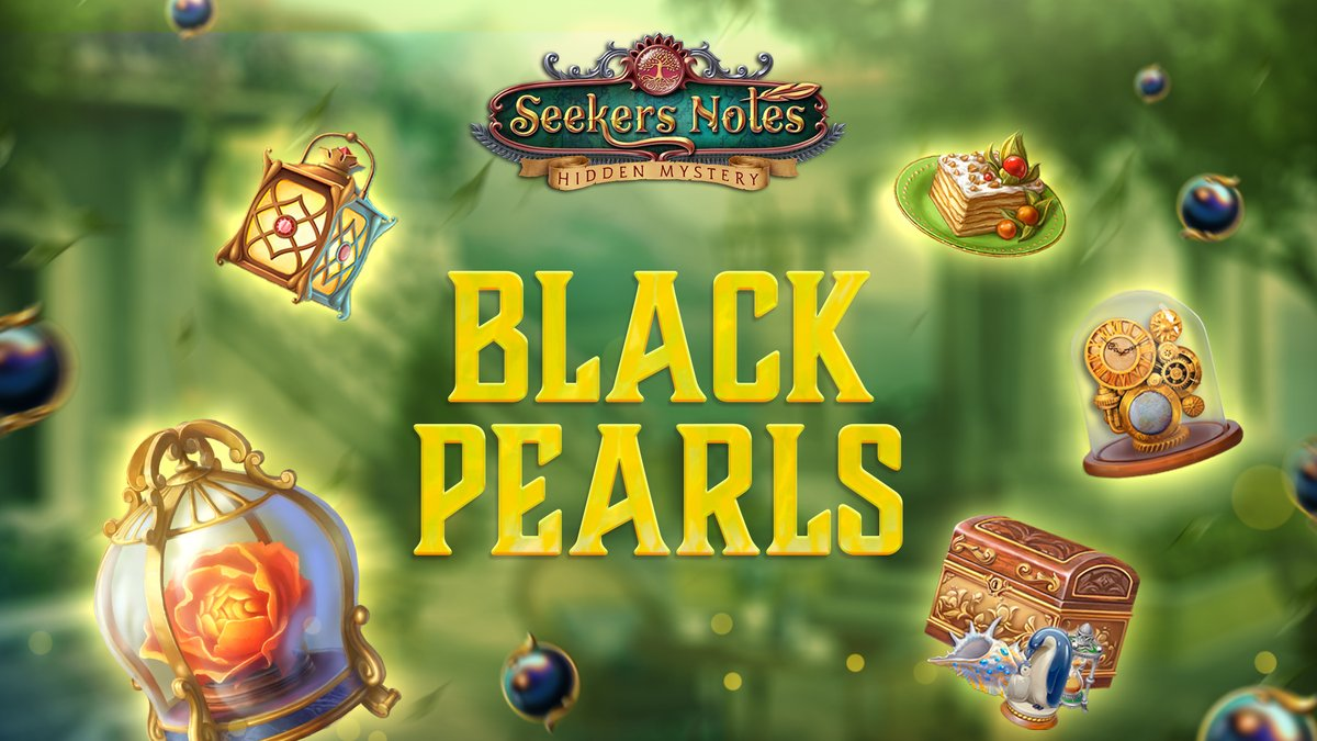 🎉Your favorite #BlackPearl Event has started in #Darkwood! Find black pearls scattered all over the city and win awesome prizes! 🕵️‍♂️  ✨ Magic Lantern ✨ Fluffy Cake ✨ Gnome Clock ✨ Secret to Success ✨ Wondrous Flower  #newevent #hiddenobject #mobilegame https://t.co/S3V9mo9Q0a