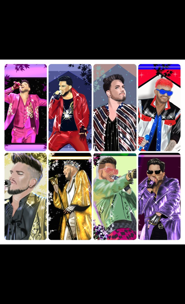 Full collection of outfits  My drawing... Which is your favourite outfit?  #adamlambert #mydrawing #fanart #wacom #digitaldrawing #digitalart #instaillustration #instaart  #lockdownart #drawsomethingpic.twitter.com/BypK3jLlh2