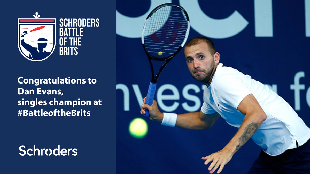 🏆 Game, set, match at Schroders #BattleoftheBrits - congratulations to winners Dan Evans in the singles, and @jamie_murray and @nealskupski in the doubles.  Thanks again Jamie for organising the charity event. Donate to @NHSCharities here: https://t.co/MvbCb0eeOG 📷 @GettySport https://t.co/OFjHLnwJUu
