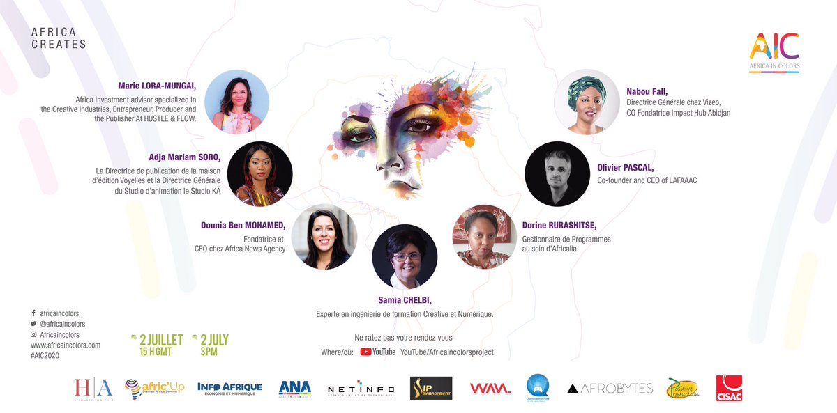 Good morning ladies & gentlement, few days to our event, here are some topics to discus with our experts: > Journeys of a creative enterpreneur > How do we raise/access funding in this industry > Creating jobs in CCI > CCI as an economic developement lever for #Africa  #AIC2020 https://t.co/PzsIbIxDBE