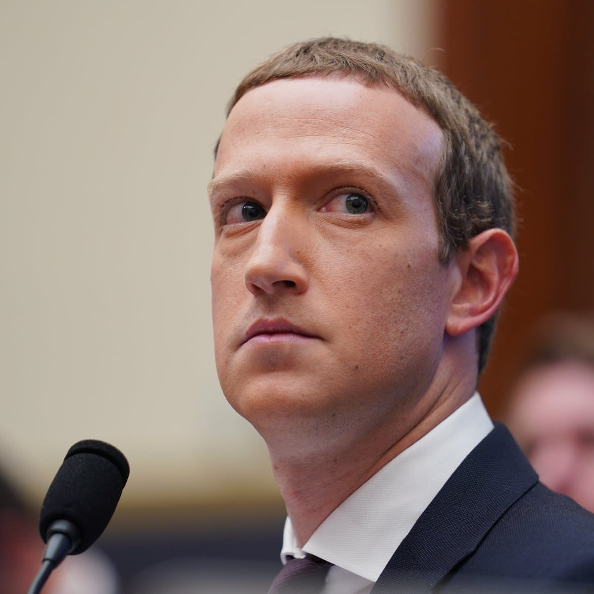 Mark Zuckerberg looks like if Kevin Spacey were trying to escape from Stephen Miller.