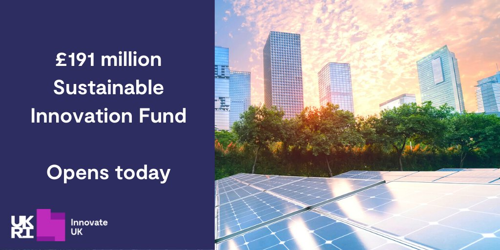 Lots of open funding calls for #CleanTech and #DeepTech companies at the minute. Check out the Sustainable Innovation Fund if you are developing new green technology.