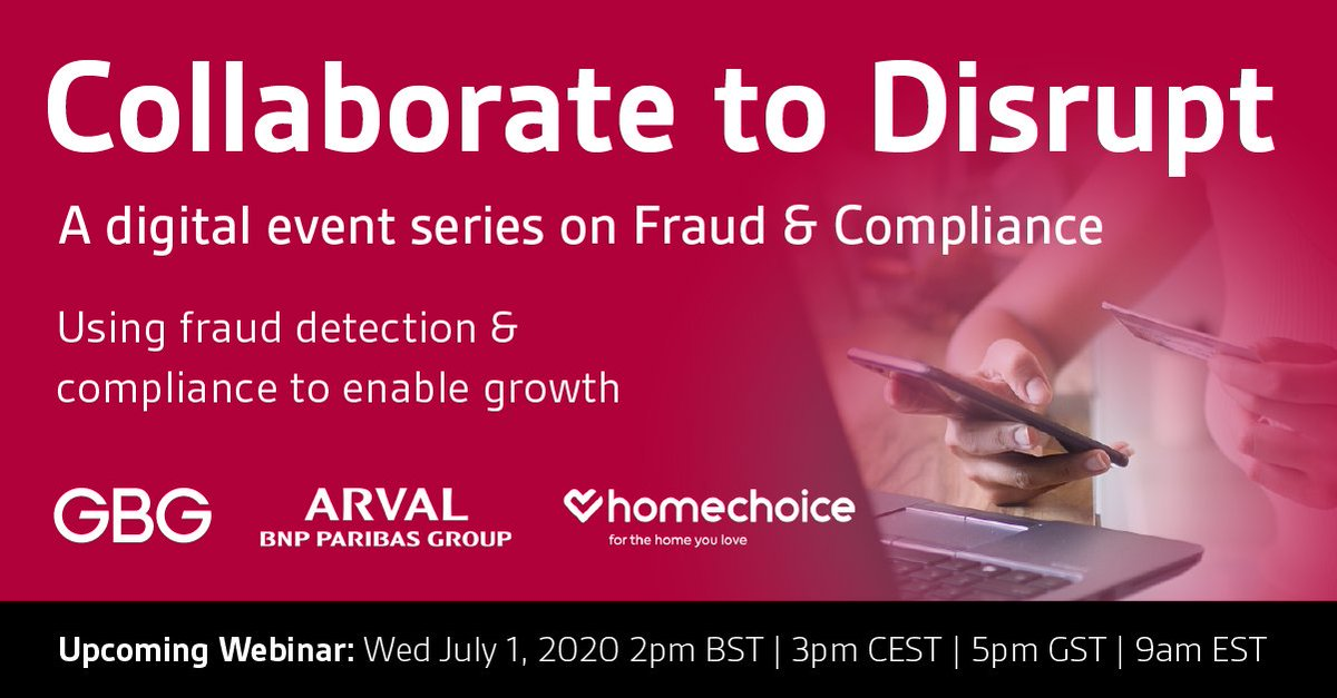 Don't miss out on our upcoming webinar next Wednesday with @Arval_UK and @homechoice and hear their insights on #fraud detection and #compliance to enable growth. https://t.co/Ly9SK7wQKv https://t.co/LaDwbDCJfz