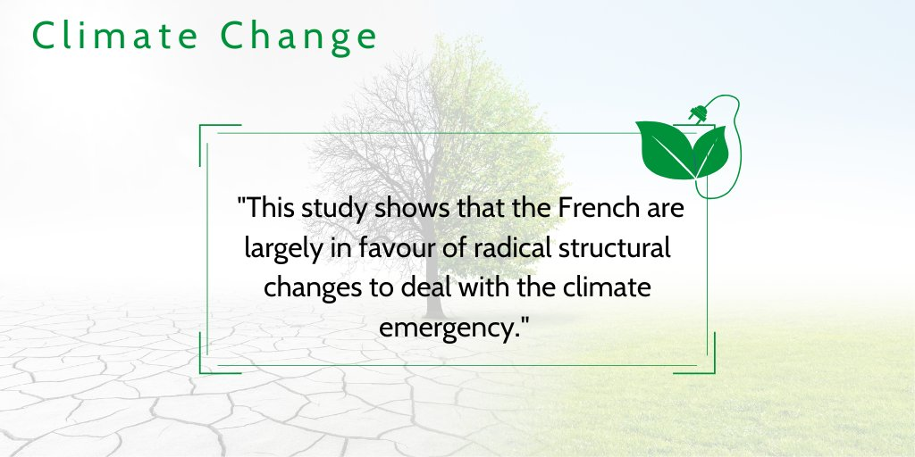 🍃 According to a poll carried out in early June, a large majority of French people believe that our economic system needs to be reformed to combat climate change.  They are in favour of a change of model in the field of energy. ⤵️ https://t.co/ICCm7rsywV https://t.co/Egs477W9Ko