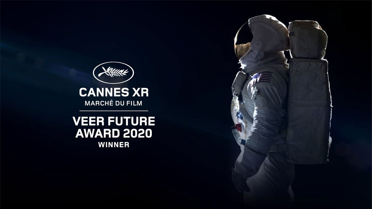 """What an honour! Last Friday our VR film """"1st Step"""" was awarded the VeeR Future Award at Cannes XR!   #CannesXR #VeerVR #Kaleidoscope #1stStepVR #MuseumOfOtherRealities #cannes2020 #virtualreality #immersiveart #vrfilm #360film https://t.co/Deiu1R9btI"""