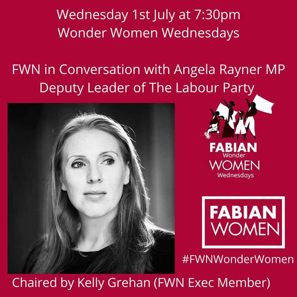 We are excited @AngelaRayner will be joining us on Wednesday for our lasted #FWNWonderWomen event Book here ⤵️ us02web.zoom.us/webinar/regist… @RachelReevesMP @ChiOnwurah @SeemaMalhotra1