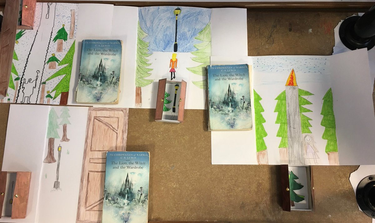 Some excellent artwork, inspired by our class text: The Lion, The Witch and The Wardrobe. #OasisCreativeWeek #OCW2020