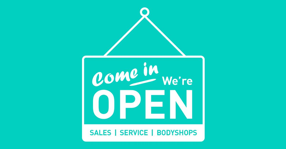 We are delighted to announce that our Sales, Service and Bodyshop businesses are now open and we are looking forward to welcoming you into our Showrooms!  Explore our reopening offers across our brands online and get in touch today.  Follow the link: https://t.co/V3qzv9VrAp https://t.co/ktdIDBUQvT