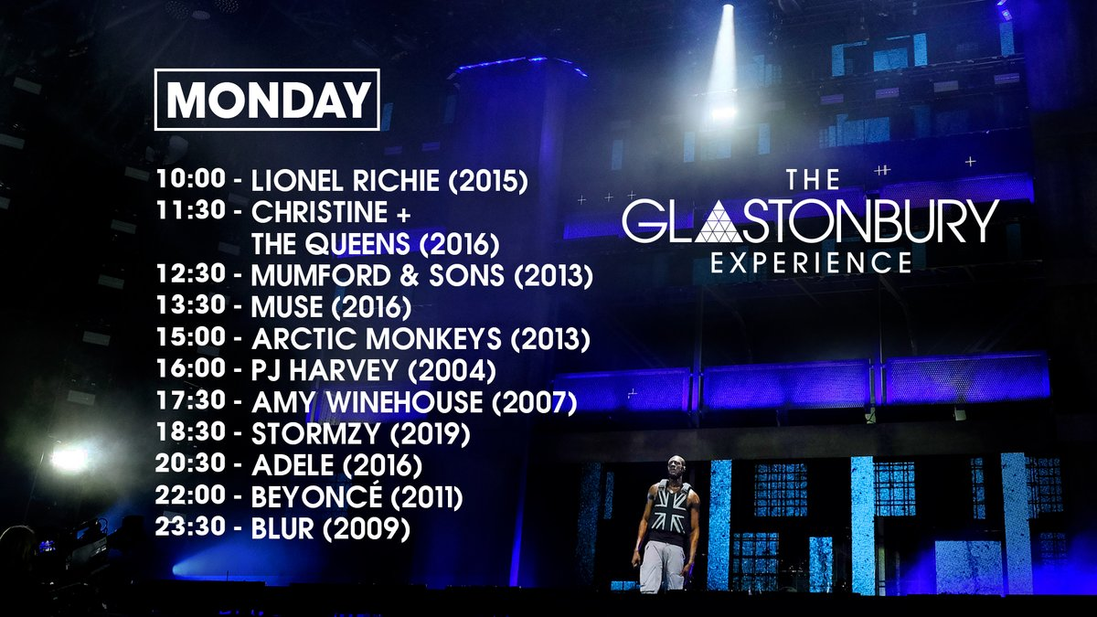 Today is the final day of The Glastonbury Experience on our @BBCiPlayer channel.   Who is on your must watch list today? 📝  #Glastonbury2020 https://t.co/nysc2DBMbR
