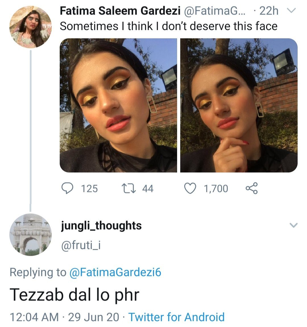 """The fact that people think it's okay to randomly joke about """"tezab"""" makes me shudder. Throwing acid at someone is not something that should come up in a mind of a person ever at any case. So here is a thread about acid attacks in Pakistan and why we need to take it more seriously https://t.co/K24ZK7s4Hx"""