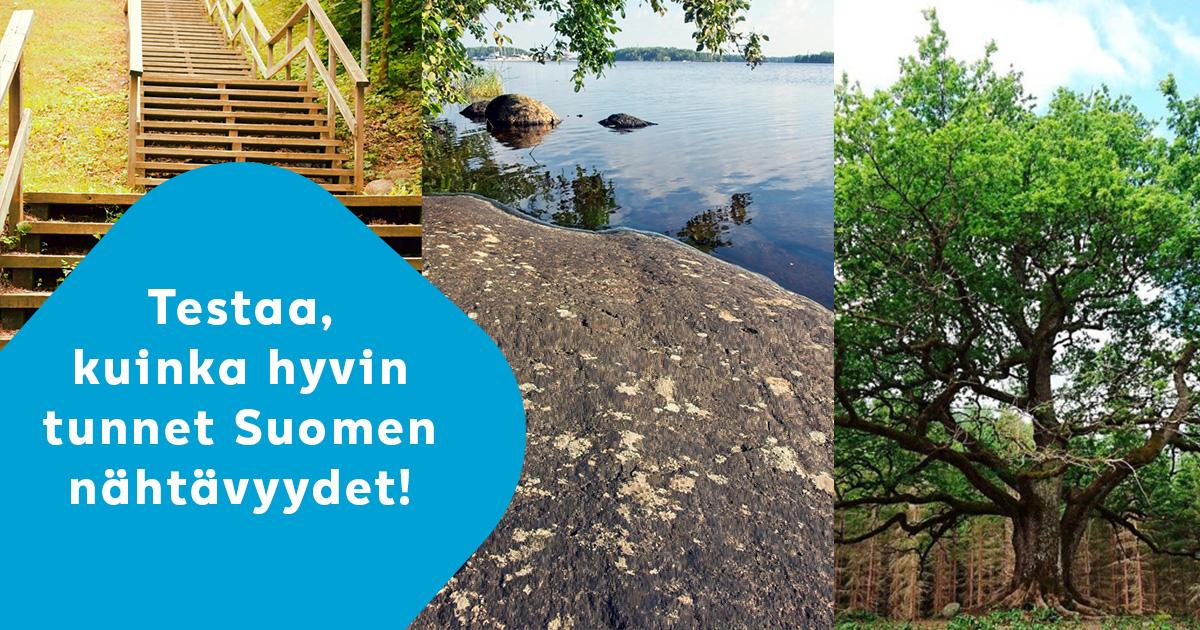 Kuinka hyvin uskot tuntevasi Suomen nähtävyydet?   Pyysimme henkilöstöltämme kotimaan nähtävyyksiä ja niihin liittyvää nippelitietoa arvuuteltavaksi.  Tartu haasteeseen ja tee testi!😉  https://t.co/i5Cb9ndmWM  #lähikesä #elämänturva https://t.co/N9xMUjtxSn