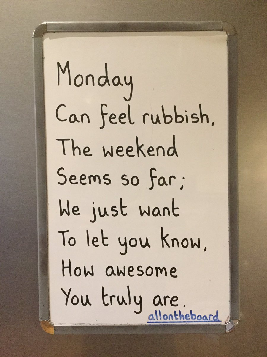 Mondays can be rubbish, but YOU are most certainly not. @allontheboard #Monday #allontheboard