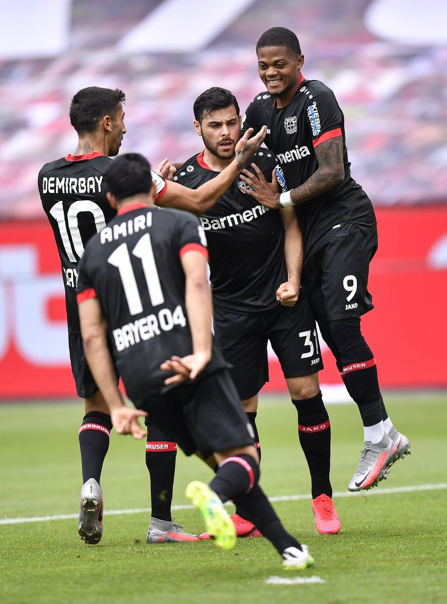 Leverkusen finish the Bundesliga season with a win & clean sheet 👏  ⚽️ @KeVolland   How far will they go in the #UEL❓ https://t.co/kvE2SUGuX7