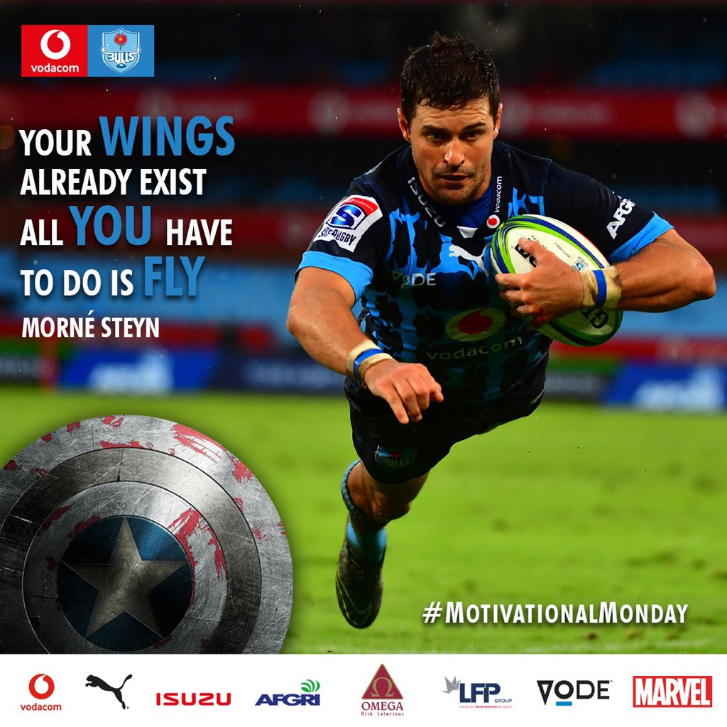 #BullsFamily Your wings already exist all you have to do is fly. - Morné Steyn 💪 #MotivationalMonday