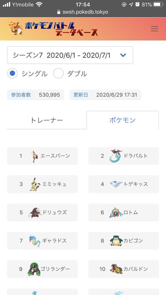 剣盾 ポケモンバトルデータベース