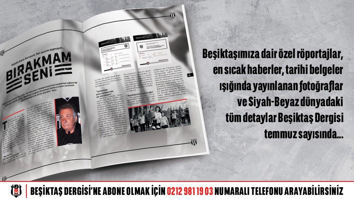"""""""Namağlup Tek Şampiyon Beşiktaş"""" dergisi; #BırakmamSeni kampanyamız, özel röportajlar, taraftar öyküleri ve daha fazlası ile temmuz sayısıyla şimdi kapınızda.  Beşiktaş Dergisi'ne abone olmak için 0212 981 19 03 numaralı telefonu arayabilirsiniz. https://t.co/LvAz8GzIui"""