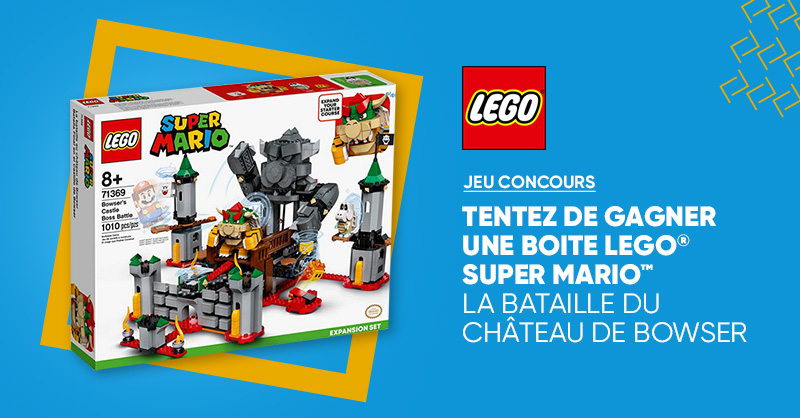 "CONCOURS 🤹|Chaque semaine & jusqu'au 31 juillet inclus, tentez de gagner une boîte @[LEGO] ""La Bataille du Château de Bowser"" 😍  Pour participer, RT + follow @Fnac 👌 🚨 *Le pack de démarrage LEGO Super Mario est indispensable pour utiliser le lot 👉 https://t.co/u4ifz9Z32J https://t.co/PGLvt47s59"