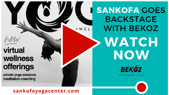 In this episode of Backstage With Bekoz, we chat w/ @TJackPonder, community organizer & owner of #SankofaYoga + Wellness Center. Tune in to hear how Tamishas built a space of healing & restoration for her community: bit.ly/37Grbbt. #MarketingMonday #BackstageWithBekoz