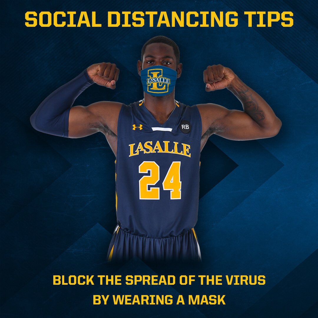 Another #COVID19 Prevention tip‼️  Please wear a mask when in public to help prevent the spread. 😷   #DoOurPart | #Believe | #LaSalleMBB🏀 https://t.co/VKZUQFhvDL