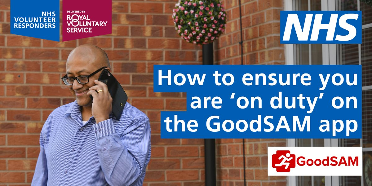 Do you want to ensure that you're correctly 'on duty' on the @GoodSamApp? From checking your phone compatibility to enabling your location settings, we've shared a useful list on how to do this on our Facebook page. Visit: https://t.co/hyRDYiE9wH #NHSVolunteerResponders https://t.co/WyfPqmYm1x