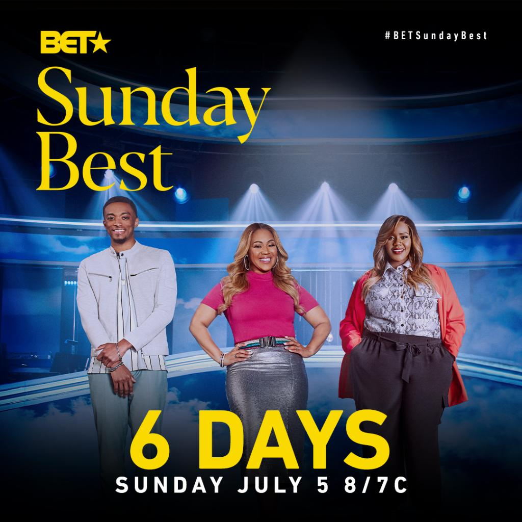 We're 6 DAYS away from the Season 10 premiere of @BETSundayBest!  Reply with 🙌🏾 if you're ready for #BETSundayBest to return! https://t.co/vI2qoIUEll