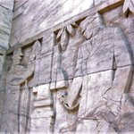"""For #NationalPostalWorkerDay today, here is the 1933 WPA bas-relief sculpture """"Activities of Post Office"""" by Albert T. Stewart on the facade of the James T. Foley U.S. Courthouse in Albany, NY.   @US_GSAR2"""