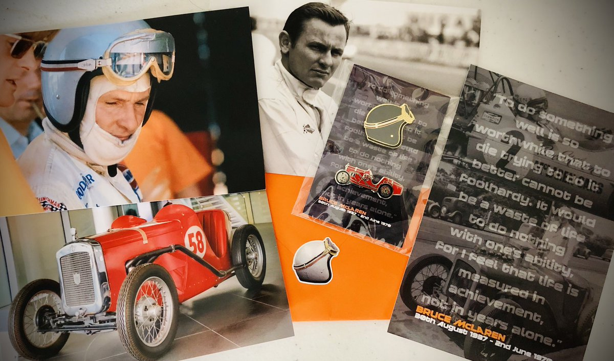 Thankyou SO much for these awesome Bruce McLaren photos and pin badges, they are wonderful! It's very generous & kind of you, Scott 🤝 Much appreciated 🧡 #McLarenMonday #Bruce50 #FansLikeNoOther https://t.co/Ro2hL33dLa https://t.co/wT6rSEK9wR