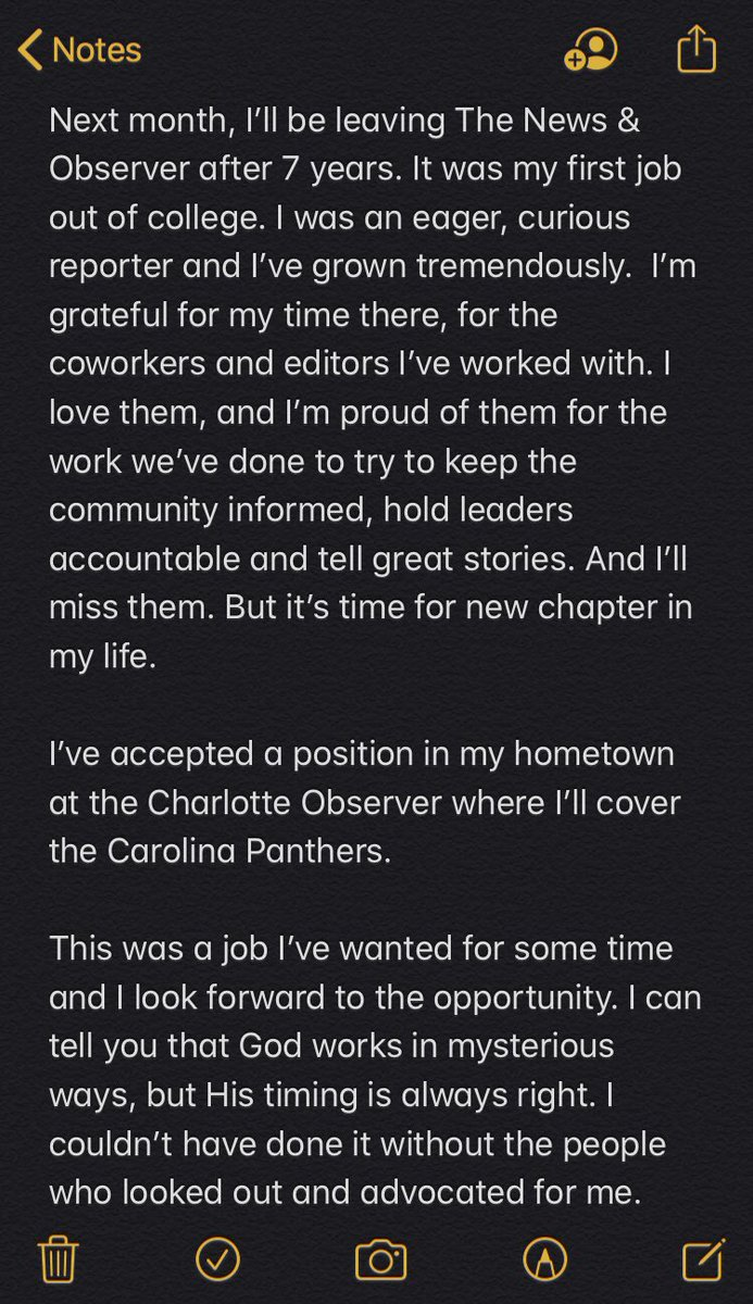 I'll miss Raleigh, Durham and Chapel Hill. https://t.co/6bsexCevGc