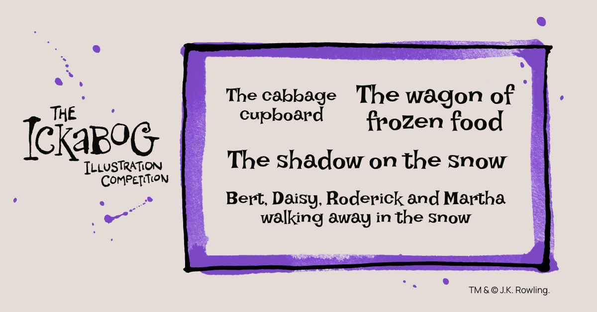 How would you portray Bert, Daisy, Roderick and Martha walking away in the snow? #TheIckabog