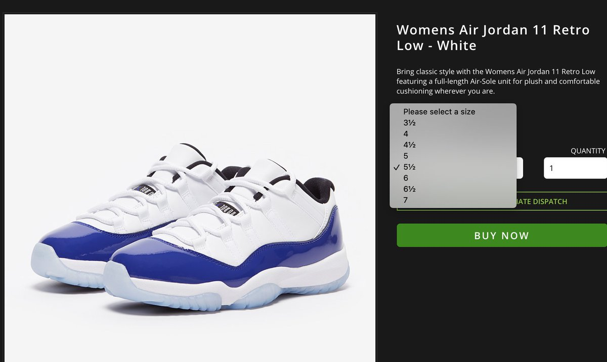 Sole Links On Twitter Ad Women S Air Jordan 11 Low Concord