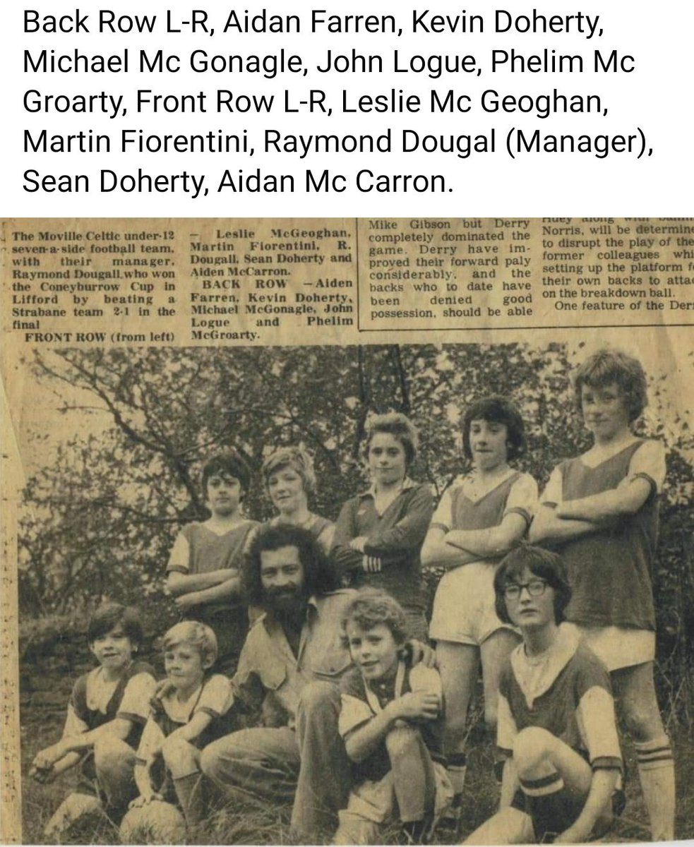 Throwback to 1975, Lifford cup winners under 12