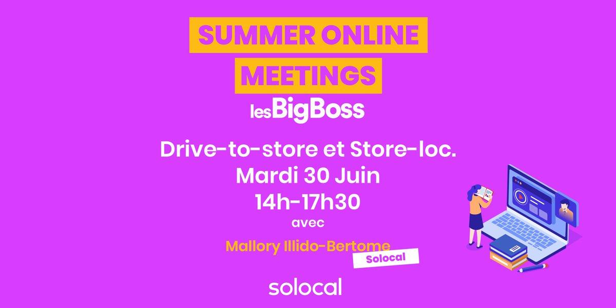 Nous participons, demain, aux Summer Online Meetings des #BigBoss le 1er évènement d'affaires 100% digitalisé ! L'occasion pour nous de parler de Drive-to-Store et Store-Loc ! https://t.co/MWRCB1UY87