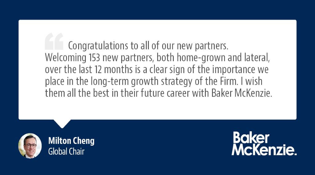Global Chair, Milton Cheng congratulates our new partners https://t.co/NX7Z4undZZ https://t.co/FZHjNQc3em