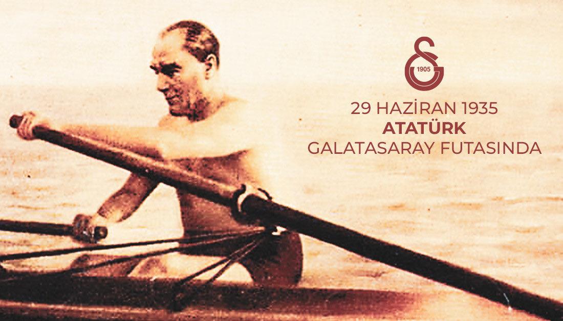 Tarihte Bugün | 29 Haziran 1935... Ulu Önder Gazi Mustafa Kemal Atatürk, Galatasaray futasında #GStb 🔙 https://t.co/NjEa6uF2g7
