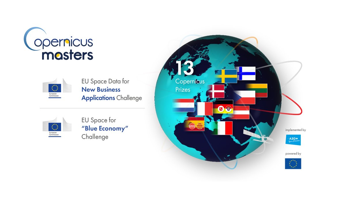 🛰️🇪🇺The deadline for the #CopernicusMasters is approaching! Submit your idea for a Copernicus Prize and get supported by the @EU_Commission to develop your business case with one of the Prize Partners of the @CopernicusEMC. 👉Apply here: copernicus-masters.com