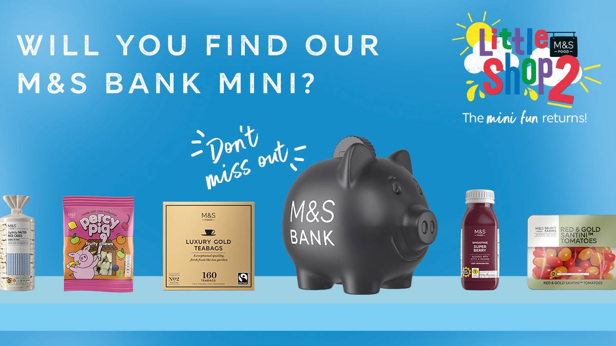 There's still time to complete your collection, including our mini piggy bank! Get a free mini collectable with every £20 spent at M&S Food. https://t.co/fNwFIfsVWv
