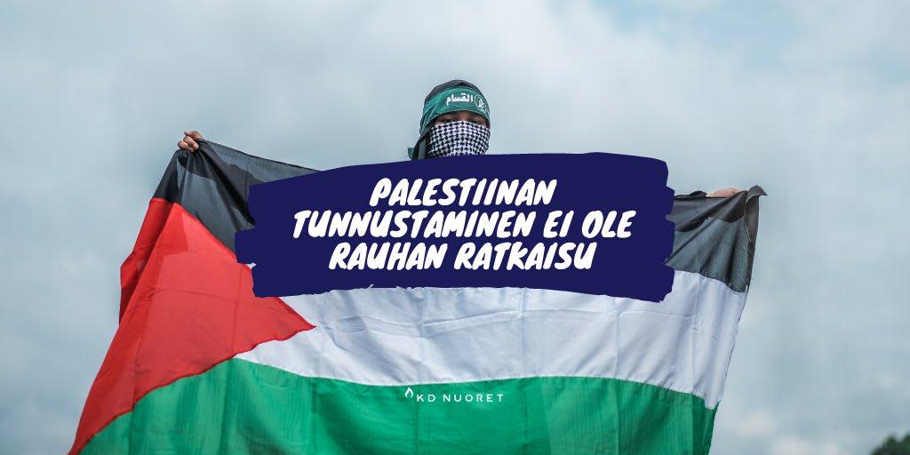 """test Twitter Media - """"KD Nuoret näkee, että Palestiinan valtiota ei tule tunnustaa ilman Israelin valtion kanssa neuvoteltua rauhansopimusta ja Palestinaan tunnustusta Israelin oikeudesta olemassaoloon juutalaisena valtiona. Ennen tätä, ei kahden valtion ratkaisulle ole edellytyksiä."""" #kdnuoret https://t.co/gT1ghZGqey"""