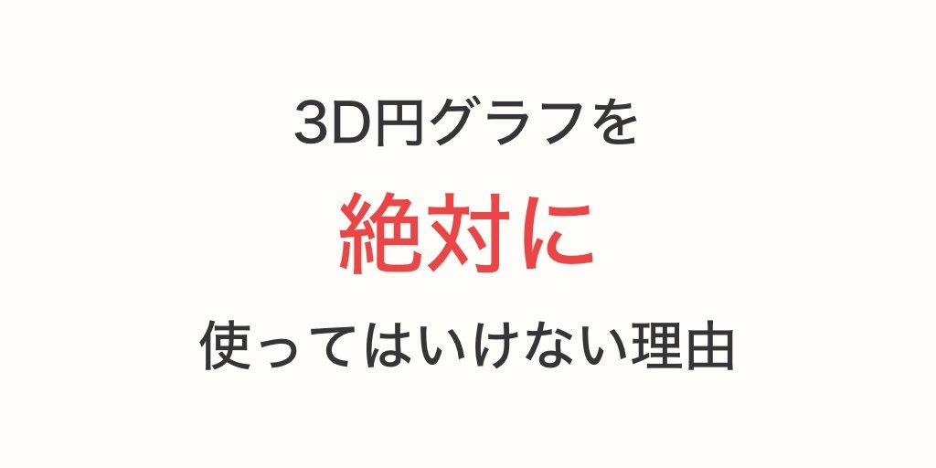 3D円グラフは絶対に使ってはいけない?!納得の理由がこちら!
