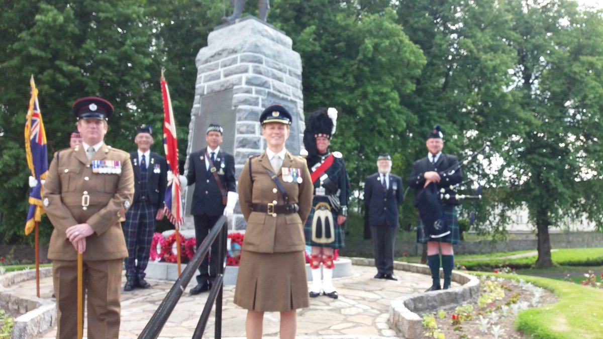 Armed Forces Day ceremony in Forres. https://t.co/GvLkTcYuNp