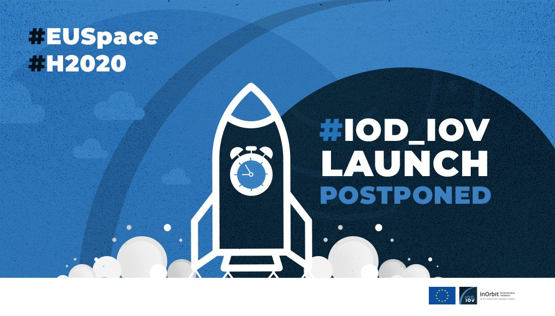 📢 Over the weekend winds at high altitude in Kourou did not allow the #Vega VV16 🚀 to launch Our @EU_H2020 #IOD_IOV experiments are safe @arianespaceceo provided an update on the rescheduling to send #EUSpace research into orbit 🇪🇺🛰️ 👉 Watch here youtu.be/Pap5FALXCSc