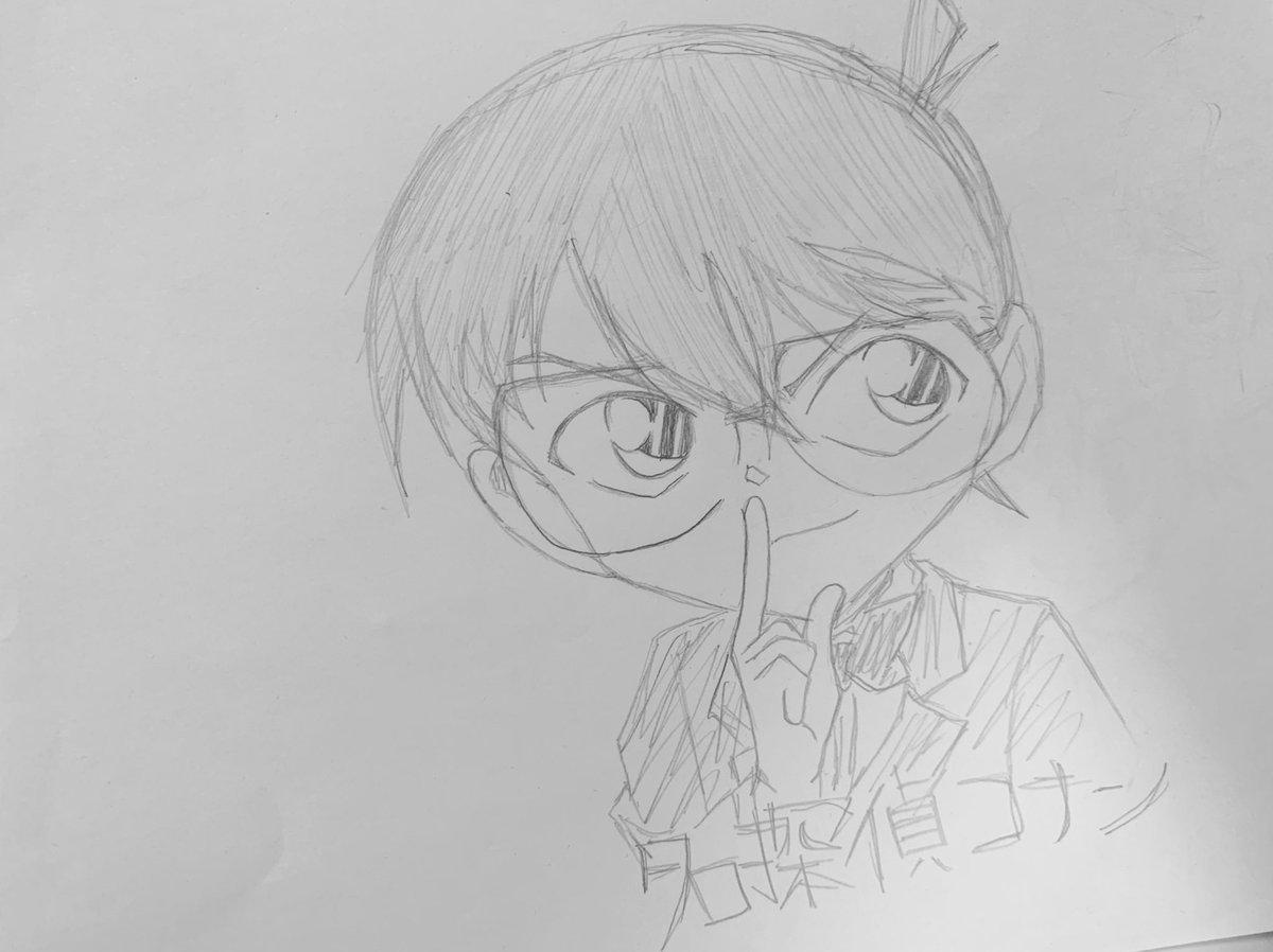 test ツイッターメディア - イラスト描き。「名探偵コナン」江戸川コナン。コナンくん可愛い。描きすぎてスケブがすぐになくなる…。#イラスト#模写#名探偵コナン#コナン#detectiveconan https://t.co/OTQpORIF6G